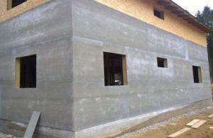 Фасад обшит плитами ЦСП