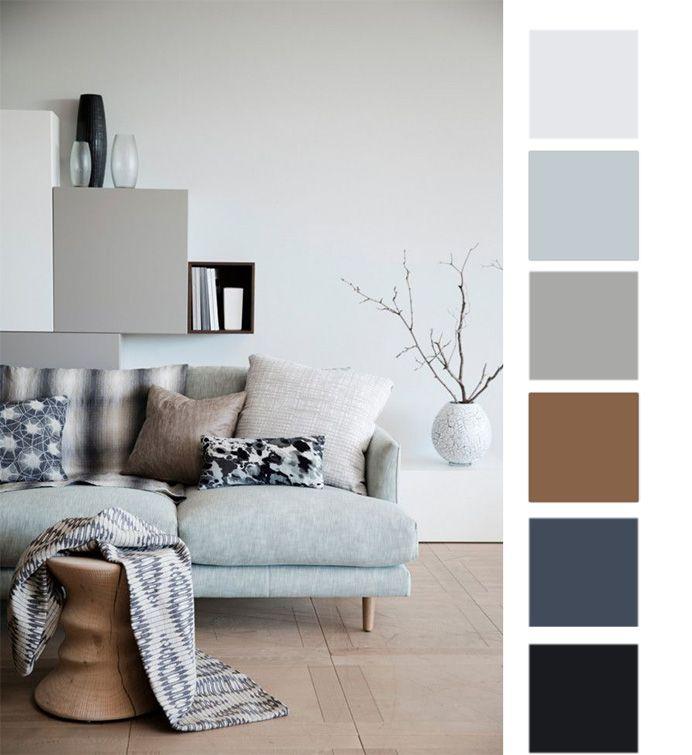 1 вариант цветовой палитры скандинавского стиля