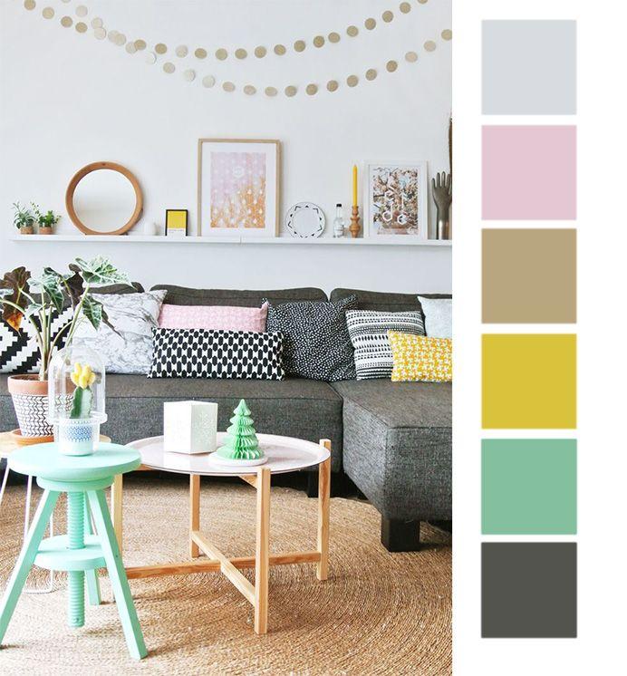2 вариант цветовой палитры для скандинавского стиля