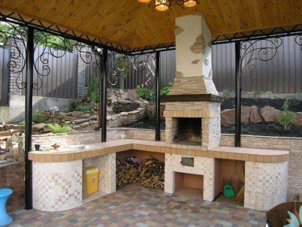 открытая летняя кухня и её проект