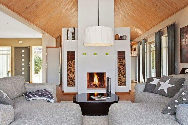 как выбрать камин в скандинавском стиле в доме