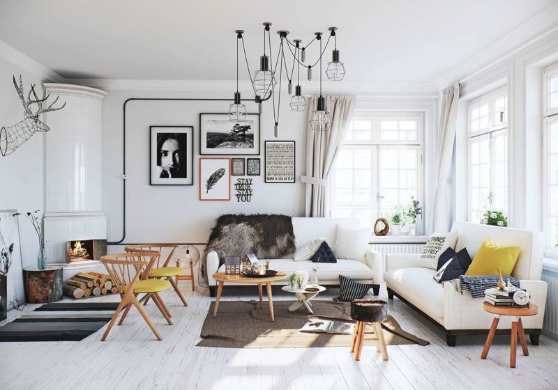 черты скандинавского стиля в интерьере дома
