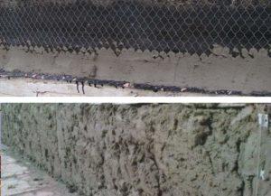 Установите сетку с деревянным каркасом