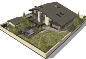 Модель участка для дачи