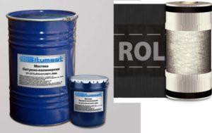 Рулонные, листовые материалы на подложке, пропитанные битумными составами. На основе целлюлозного волокна.