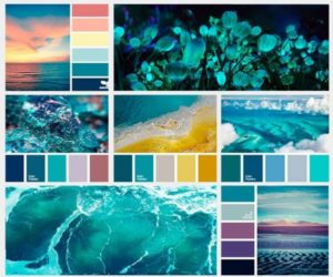 6 палитр морского цвета