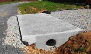 Строительство перекрытия канавы