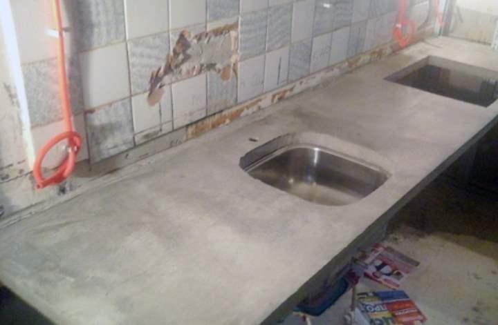 Столешница бетонная состав смеси арт бетон текстура