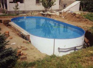 Овальный каркас бассейна