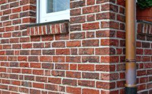 Стена из облицкирпичей