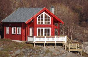 Раньше большинство норвежских домов были покрыты слоем дерна на крыше