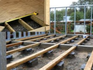 Пол деревянного дома