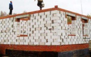 Возведение стен должно быть осуществлено на надежном фундаменте.