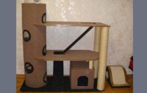 Ковролиновый дом для кота