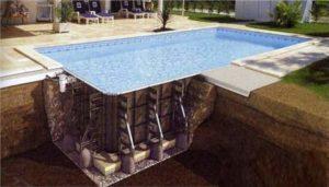 Модель бассейна из панелей