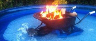 Дрова в бассейне
