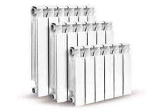 3 размера радиаторов