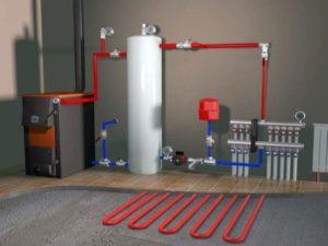 Подсоединение от централизованного отопления