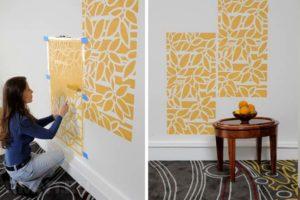 Желтые фрагменты стен