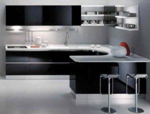 Мало мебели на кухне