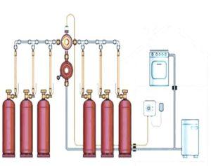 Как подключить газовую плиту к баллону, а точнее двум