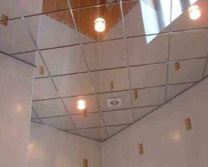 Если использовать настоящие зеркала, то потолок будет выглядеть шикарно