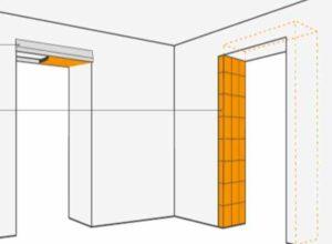 Как уменьшить дверной проем по ширине гипсокартоном