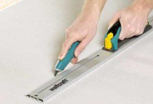 Удобнее всего использовать усиленные ножи с шириной рабочего полотна в 2.5 см, они самые прочные.