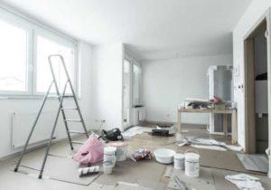 Ошпаклевывание стен и потолка