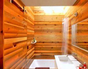 Постарайтесь выбирать древесные обои в широком рулоне, так как их будет проще наклеивать.