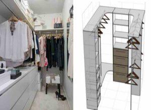 Составление схемы и плана гардеробной