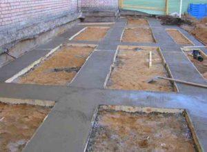 Устройство бетонной подложки