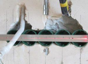 Установка подрозетника в стену из гипсокартона, бетона и кирпича