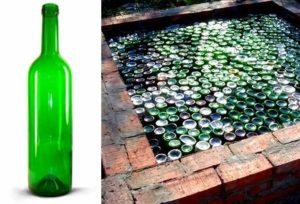 пол в бане, сделанный из стеклянных бутылок будет в полной мере отвечать всем требованиям