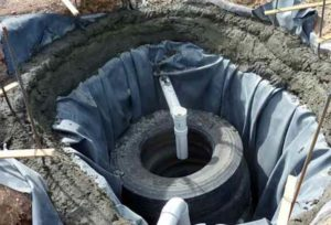 Как сделать из колес сливную яму