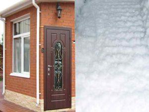 Современная технология терморазрыва во входных дверях.