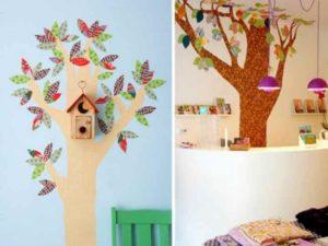 Дерево из обоев