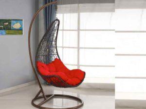 Подвесное плетеное кресло
