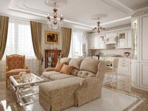 В дизайне современного типа обычно выделяют французский, британский или американский классический стиль.