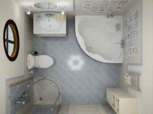 Ванна, где можно принимать душ.