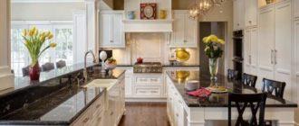 Кухня, оформленная в европейском стиле, всегда будет просторной и светлой