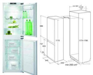 Управление заключается в виде стандартного регулятора температуры, а прибор состоит из двух камер, причем каждая из них находится за своей дверью. Тут нет системы «ноу фрост», из-за чего время от времени придется размораживать холодильник вручную.