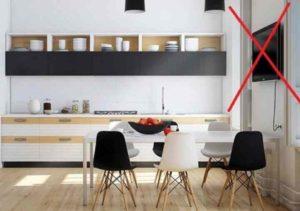 Где повесить телевизор на кухне – это одно дело