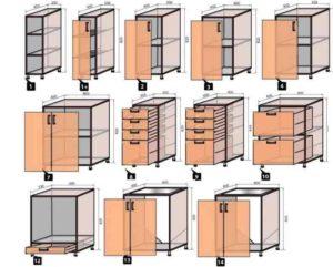 Фасад – в качестве него используют дверцы от кухонного гарнитура