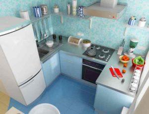 Как правильно обустроить маленькую кухню в хрущевке и частном доме + фото