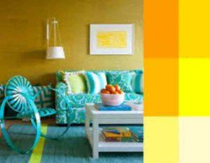 Сочный желто-лимонный цвет в интерьере