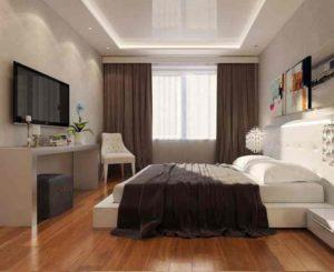 Сочетание цвета обоев и штор в дизайне интерьера подойдет для оформления