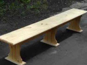 модель усложнена, потому что помимо связки со столом у нее (скамеек) есть спинки