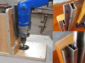 Далее делаем фиксатор для электрического инструмента