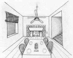 Удалите ставшие ненужные линии и можно продолжать рисовать очертания предметов мебели.